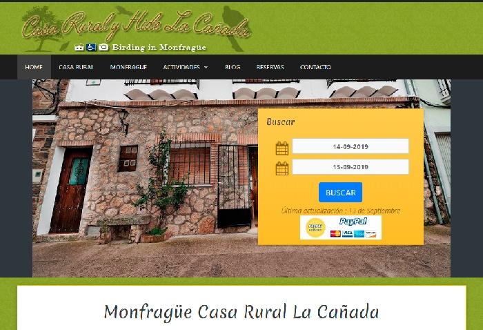 Calendario Reservas Turismo Rural Monfragüe